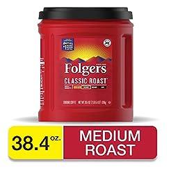 Folgers Classic Roast Coffee, 38.4 Ounce...