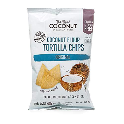 The Real Coconut Gluten Free Coconut Flour Tortilla Chips 5.5oz (Original)