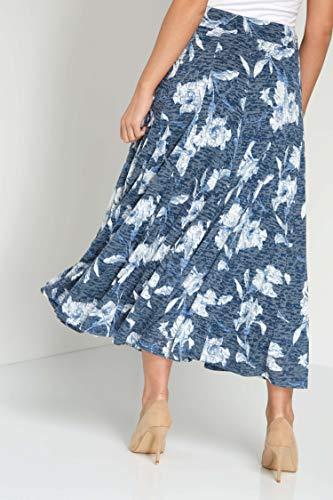 imprim Roman Originals Femme Bleu Printemps vas Jupe Floral Mi Blau Midi avec Bleu Longue Ete ICIrdqw