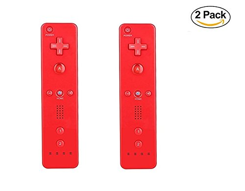 LION FISH - Remote Wireless Controller (2 Packs) for Nintendo Wii&Wii U Video Game Gamepads(No Motion Plus). (Red) - Nintendo Wii Wireless Remote