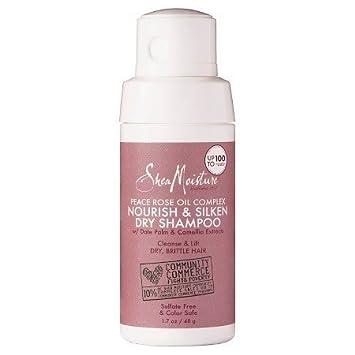 1. Shea Moisture Peace Rose Soften, Silken & Shine Dry Shampoo - Best Hydrating Dry Shampoo for Black Hair