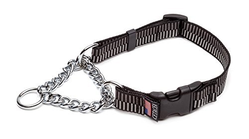 Cetacea Chain Martingale Dog Pet Collar with Quick Release, Large, Step 3 by Cetacea