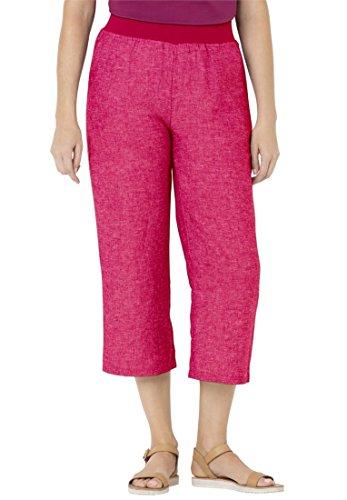 Hot Bargain Catalog Outlet Woman Within Plus Size Wide Leg Capris