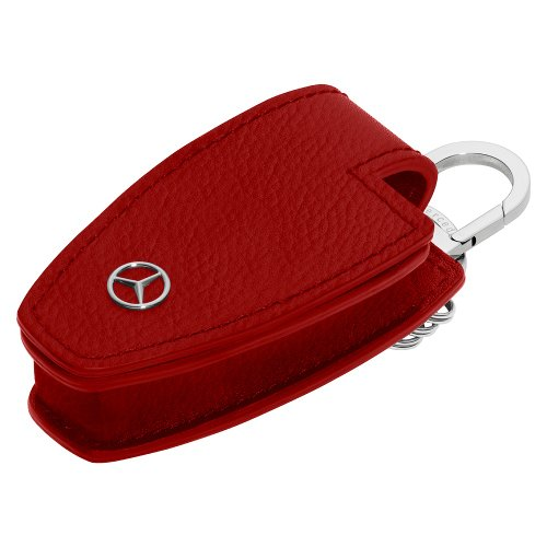 Genuine mercedes benz red leather key cover buy online for Key for mercedes benz cost