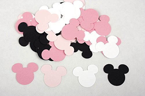 100 Black Pink U0026 White Minnie Mouse Confetti, Paper Birthday Party  Decorations