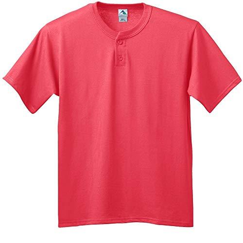 Augusta Sportswear Men's SIX-Ounce Two-Button Baseball Jersey S Red
