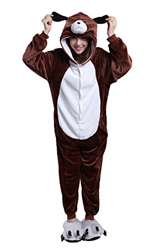 Apiidoo Unisex Dog One Piece Pajama Animal Pjs Cartoon Cosplay Halloween Costume XL - Cheap Couples Fancy Dress Costumes Uk