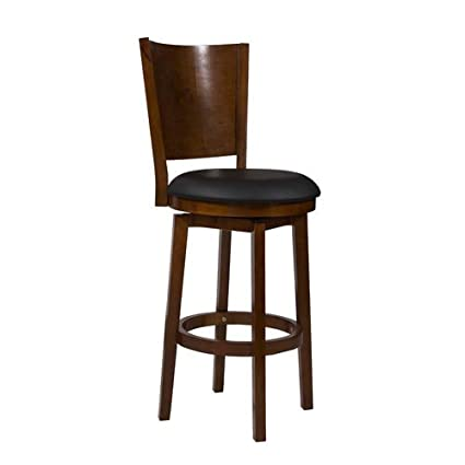 Remarkable Powell Furniture Big And Tall Solid Back Wood Bar Stool Machost Co Dining Chair Design Ideas Machostcouk