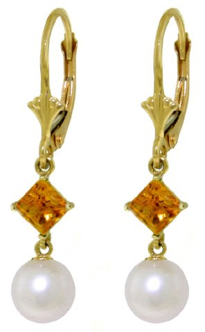 Dangle-Earrings-with-Citrines-and-Pearls-in-14k-Yellow-Gold
