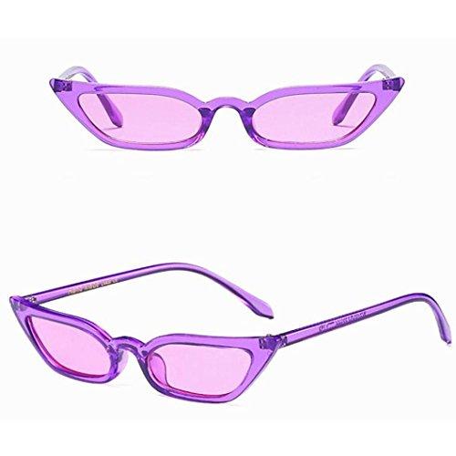Eyewear lunettes Fashion Lunettes Soleil Lunettes petit De De Sunglasses Eye Soleil De de Lunettes UV400 rétro Anti Fashion Ladies Cat cadre Vintage Reflet soleil Femmes URSING Glasses Violet Awn76qI