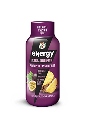 7 Select Extra Strength Energy Shot  Pineapple Passion Fruit  2 Ounce Bottles  Pack Of 12