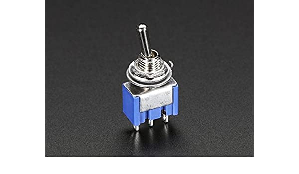 Blue Panel Mount Type Pack of 5 3-Pin SPDT Toggle Switch