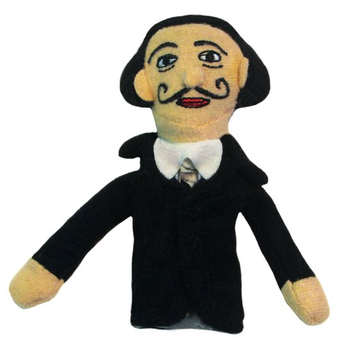 The Unemployed Philosophers Guild Salvador Dalí Finger Puppet and Refrigerator Magnet - for Kids and Adults