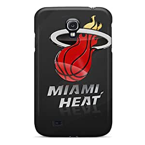 Shock Absorbent Cell-phone Hard Cover For Samsung Galaxy S4 With Unique Design Stylish Miami Heat Logo Pictures CharlesPoirier