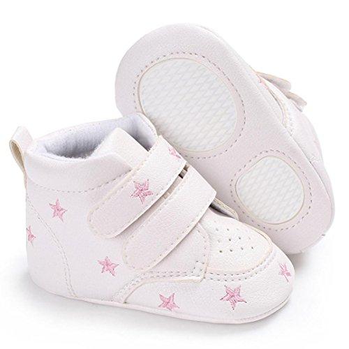 Stickerei Baby Hight Jungen Soft 1 Sneaker Mädchen Kleinkind Igemy Herzförmig Rutsch Schuhe Paar Rosa Sole Anti Cut ExqwYSn0H