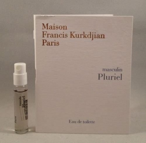 - Maison Francis Kurkdjian Masculin Pluriel EDT for Men Spray Sample Vial 2 Ml/.06 Oz
