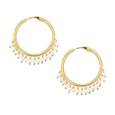 8735d758e Buy Shining Jewel Gold Brass Hoop Earrings For Women Online at Low Prices  in India | Amazon Jewellery Store - Amazon.in