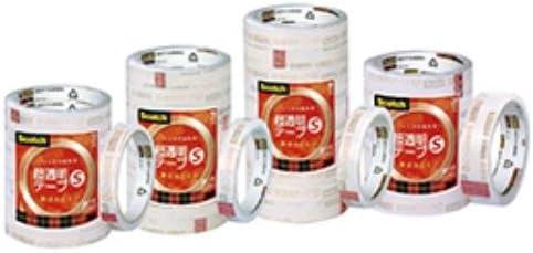 スコッチ『超透明テープS』35m巻業務12mm 112-529