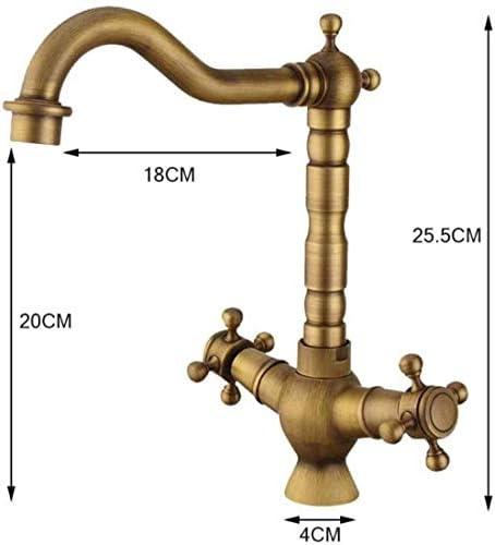 HXC-HXC タップキッチンのシンクの蛇口の蛇口ミキサー銅コンチネンタル温水と冷水の蛇口レトロスパイラルキッチン蛇口世帯流域の蛇口 蛇口