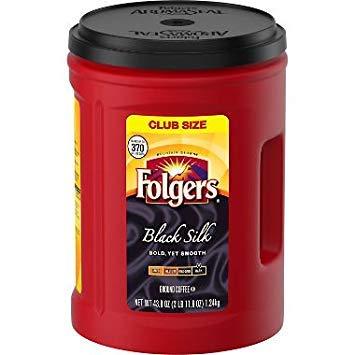 Folgers Black Silk Coffee (43.8 oz.)-3 PACKS by Folgerss