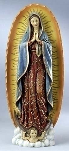 Joseph's Studio Our Lady of Guadalupe Stoneresin Statue, 18 1/2 Inch (Medal Miraculous Statue)