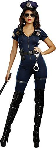 Dreamgirl Women's Lieutenant Ivana Misbehave Costume, Blue, Medium