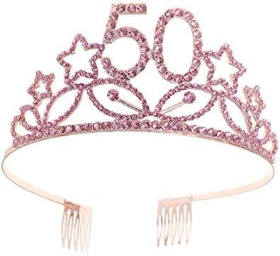 Minkissy - Tiara de cumpleaños con número de corona para 50 ...