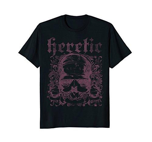 HERETIC symbol anti christ religion non believer tshirt