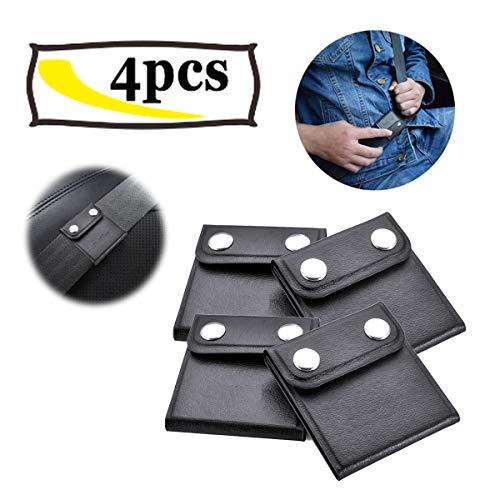 Ansblue Seat Belt Adjuster,Comfort Universal Auto Shoulder Neck Strap Positioner, Universal Vehicle Car Seat Belt Safety Covers - Black (4PCS)