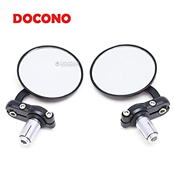 """Motorcycle 7//8/"""" 22MM Handle Bar End Rearview Mirrors Fit Cafe Racer Sports Bike"""