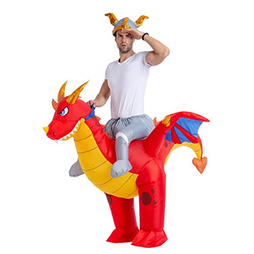 Spooktacular Creations Inflatable Costume Riding a Fire