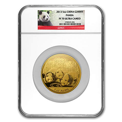 2013 CN China 5 oz Proof Gold Panda PF-70 NGC Gold PF-70 NGC
