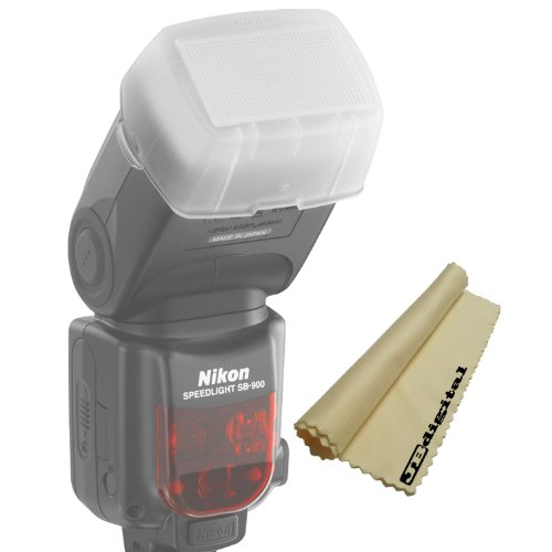 Flash Diffuser for the Nikon SB-900 External Flash + JB Digital Soft MicroFiber Cleaning Cloth