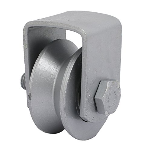 uxcell-50mm-Dia-Wheel-304-Stainless-Steel-V-Groove-Rail-Track-Bearing-Fixed-Pulley