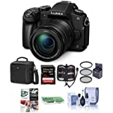 Panasonic Lumix DMC-G85 Mirrorless Camera with 12-60mm F/3.5-5.6 Lumix G Vario Power OIS Lens, Black - Bundle with Bag