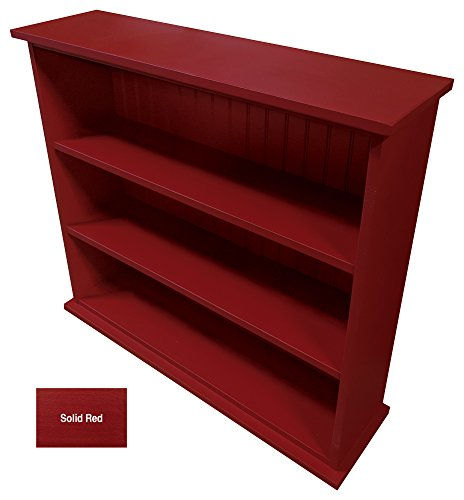 Sawdust City Solid Wood Hall Bookcase (Solid - Red)