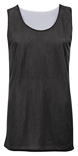 Black Reversible Sleeveless Shirt (Badger Sportswear Men's Mesh Reversible Tank Top, black/white, Small)