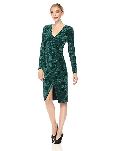 Black Halo Women's Miramar Velvet Sheath Dress, Vine, 12 (Velvet Vine)