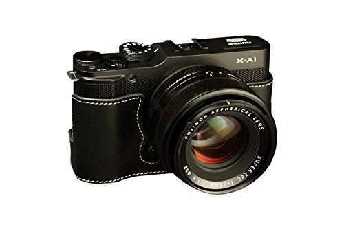 TP FUJIFILM 富士フイルム X-A1 (XA1)用本革カメラケース ブラック  カメラケース&ストラップTP1881 B01K4OZWN6