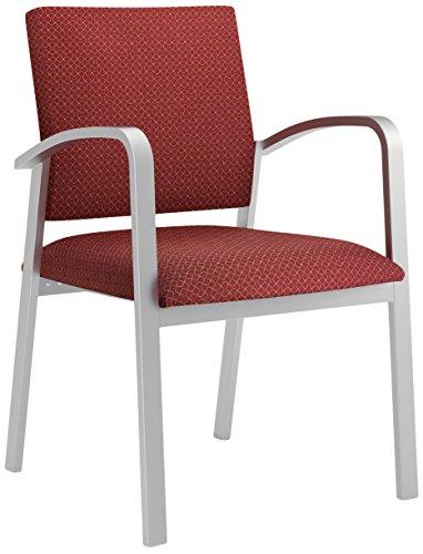 Lesro Newport Designer Fabric Guest Chair, Axis Paprika, Silver (Chair Axis)