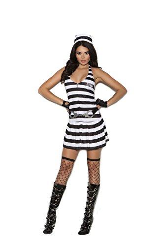 Zabeanco Sexy Woman's Prisoner Convict Cutie Jailbird Costume