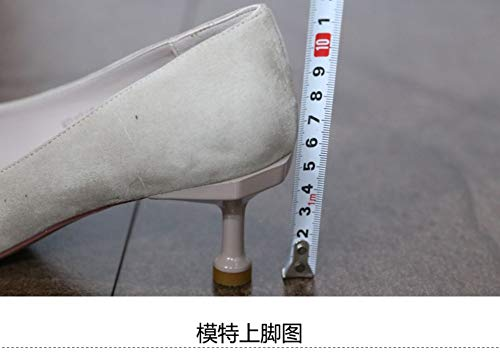 A Temperament The Thin Small 37 Female With Version High Korean Pointed New Shoes Spring Shallow Shoes Of 35 Zzdsh Buckle heeled Single Mouth 2019 PWqnIgfdIU