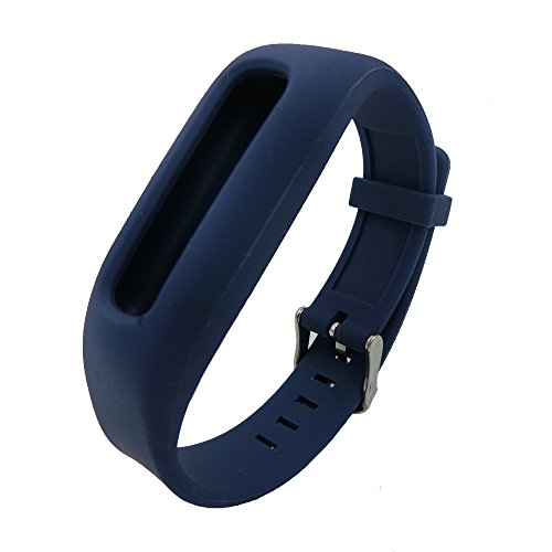Smarfan Silicon Wristband for Fitbit One Bracelet Band for Fitbit One Wirelss Activity Plus Sleep Replacement band for Fitbit One Dark Blue