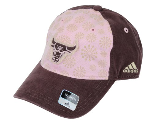 Adidas Jersey Hat (Adidas Womens Chicago Bulls NBA Adjustable Slouch Cap, Brown and Pink)
