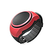 Bluetooth Music Watch, ABCBluetooth Music WatchHandsfree Call During Driving At Ease Sports Bluetooth Speaker Watch MP3 Music Player Radio Handsfree (Red )