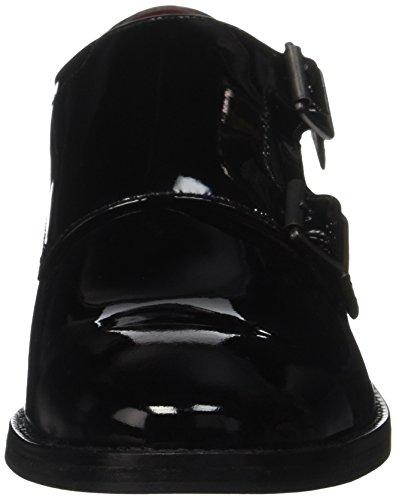 Base London Nash, Mocasines para Hombre Negro - Noir (Patent Black)