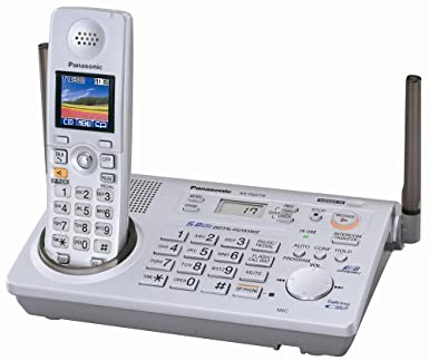 Panasonic KX-TG5776S 5.8 GHz FHSS GigaRange Expandable Digital Cordless Phone System Landline Phones at amazon