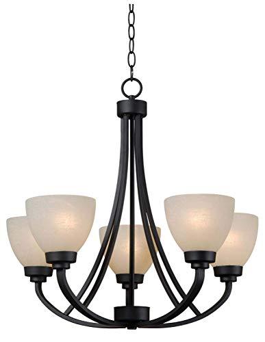 - Kenroy Home 93195BBZ Dynasty 5-Light Chandelier, 25