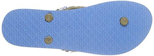 kamoa Psulani - Sandalias de Dedo Mujer Verde - Grün (mint)