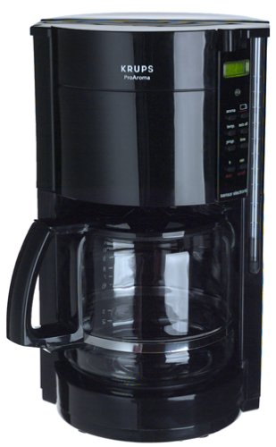 Krups 453-4C 12-Cup Coffeemaker with Gold Tone Filter, Black, DISCONTINUED